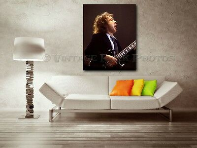 Angus Young AC/DC 36x48 inch Canvas Framed Fine Art Gallery Museum Print 20