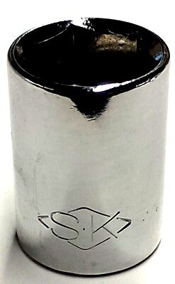 "SK Tools 6pt 15mm Standard 1/2"" Drive Socket Chrome 22215 *Made In The USA*"