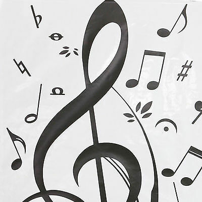 Wall Art Decor Removable Vinyl Decals Stickers Musical Music Notes Swirls
