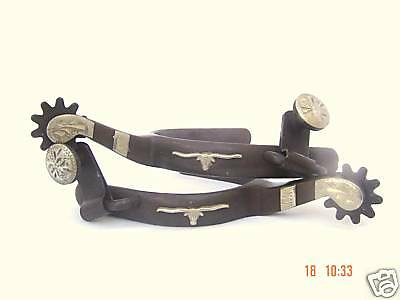 Cowboy Rodeo Western Youth Kid's Child's Longhorn Spurs