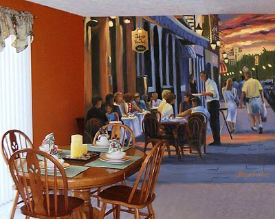 French Cafe-Wall Mural-9'wide by 8'high