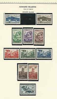 Comoro Islands Collection On Minkus Pages 1950 To 1966 Stamps Mnh Scott 30 To 66