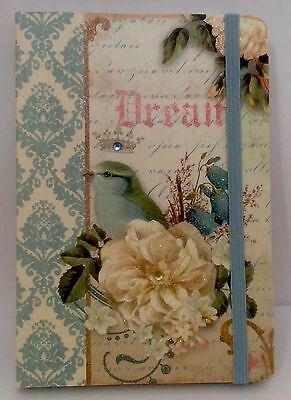New Punch Studio Dream Roses Jeweled Paper Notebook Organizer Journal Planner