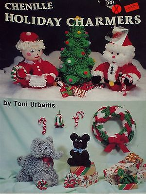 Pat Depke Chenille Holiday Charmers Patterns Christmas Tree, Santa Claus & More.