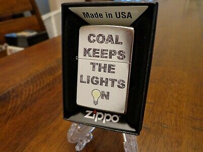 THE COAL MINER KEEPING AMERICA STRONG ZIPPO LIGHTER MINT IN BOX