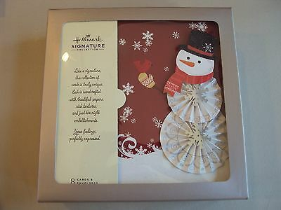 New Hallmark Boxed Lot Of 8 Christmas Cards NIB Signature Collection 3D Die-Cut