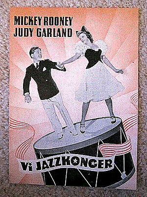 Lot Of 6 Judy Garland  Original Danish Movie Programs - Star Is Born & Others