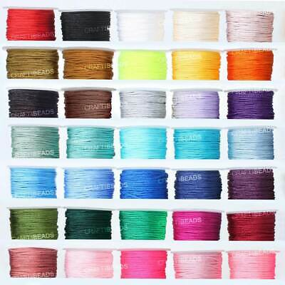 1.5mm Superior Nylon Chinese Knot Cord Shamballa Macrame Beading String 32yards