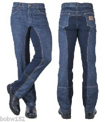 MENS Western Horse Pony Trail Pleasure Riding Denim JEANS Jodphurs Trousers