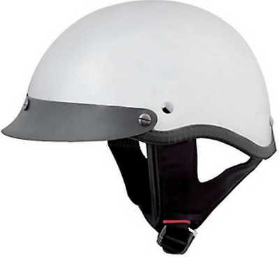 f7ca0a70 HCI Mirrored Chrome Motorcycle Half Helmet with Visor - ABS Shell 100-118  (XS