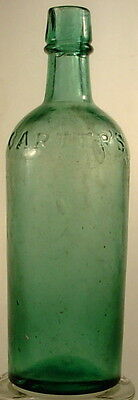 CARTER'S 3 MOLD MASTER INK BOTTLE APPLIED TOP POUR LIP TEAL COLOR 1800'S