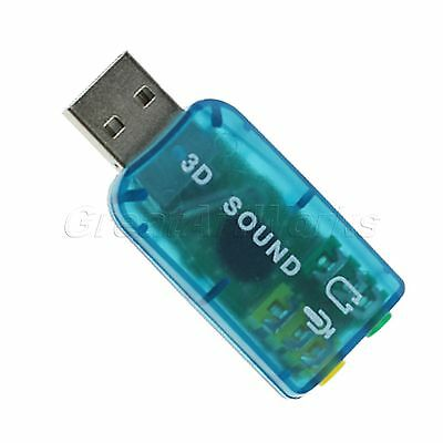 NEW VIRTUAL 5.1 ch USB 2.0 to 3D AUDIO SOUND CARD ADAPTER