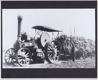 "MILL STEAM TRACTOR HAWAII 1920's? HAND PRINTED SILVER HALIDE ON 8x10"" MATT"