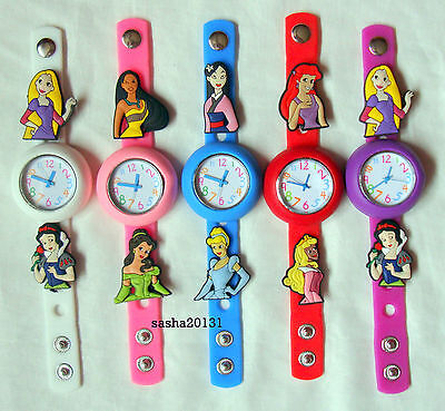Disney Princess  Jibbitz Band Watch & 2 Charms, Box Available If Required