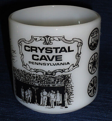 Federal Milk Glass vintage Mug CRYSTAL CAVE PA