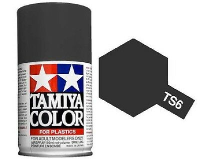 TAMIYA COLORI SPRAY 100 ml PER PLASTICA TS6 MATT BLACK FOR PLASTIC BOMBOLETTA