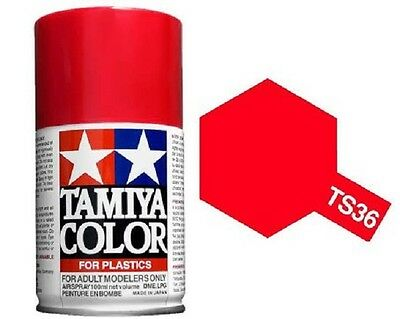 TAMIYA COLORI SPRAY 100 ml PER PLASTICA TS36 FLUORESCENT RED FOR PLASTICA