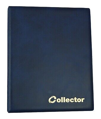 Coin Album 120 Medium Size Coins  50p 50 pence £1 £2 Olympic Folder Book - BLUE