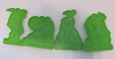 Vintage 1990 Teenage Mutant Ninja Turtles Wilton Cookie Cutters Set Lot of 4