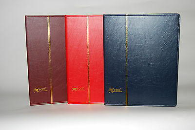 Stamps album. New design, perfect to fit blocks, come with slip case - Burgundy