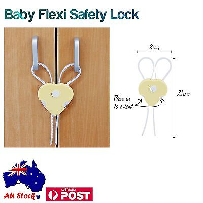 2 x Baby Guard Protectors Toddler Children Kids Safety Door Cabinet Glass Flexy
