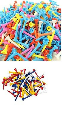Straight / Standard Plastic Golf Tees- Various Sizes and Quantities FREE P&P