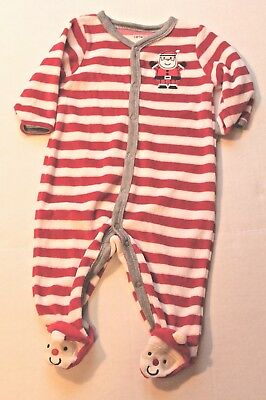 2dcd47c171e0 CARTER S POLAR BEAR Striped One-Piece Sleeper Pajamas Infant Baby ...