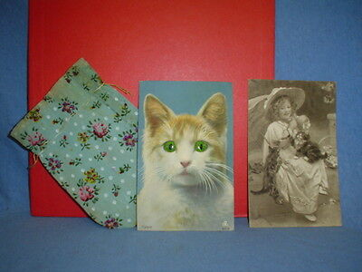um 1920 - miauende Katze -  AWH Patent 0110  - Postkarte Made in Germany