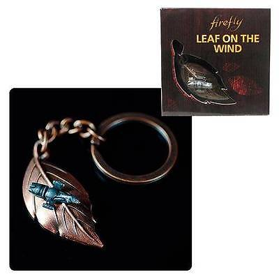 Serenity Licensed FIREFLY Ship Bronze Leaf on the Wind PENDANT Key Chain WASH<3