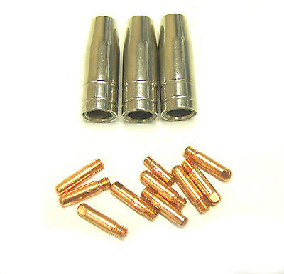 MB 15 Mig Welding Shrouds / Nozzles & Contact Tips