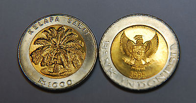 Indonesia 500 & 1000 Rupiah 2 Uncirculated Coin Set (KM54,56)