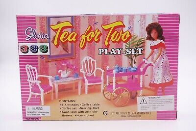 Gloria, Barbie Size Doll House Furniture/(96007) Tea for Two Play Set