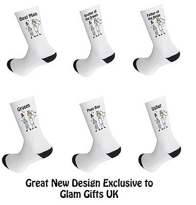 Wedding Socks, Groom, Best Man, Usher - Great Novelty Wedding Socks