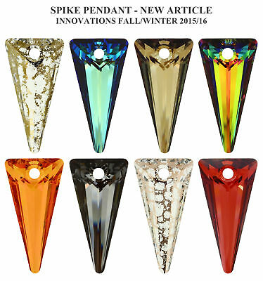 Genuine Swarovski 6480 Crystal Spike Pendants – All Colors and Sizes