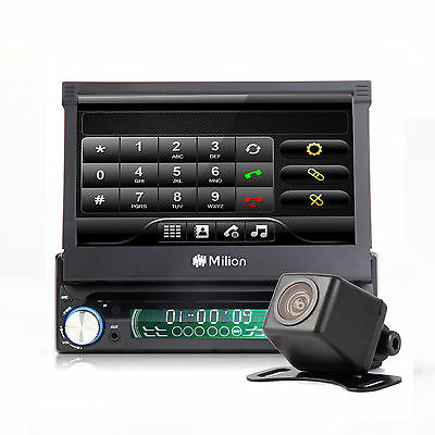 """U2 C1205V 7"""" LCD Single 1Din In Dash Car BT 4x65W DVD Player Touch Screen Stereo"""