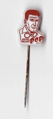 Vtg plastic MICHEL VAILLANT pin badge 1960s Comic France