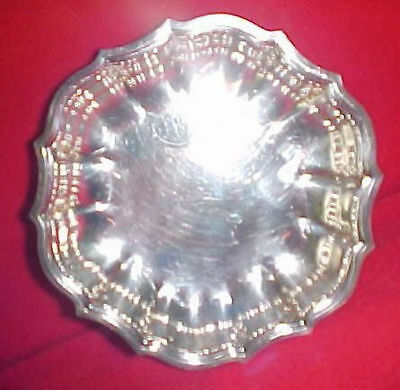 Vintage International Silver Co Chippendale Candy Nut Dish ~ 6395