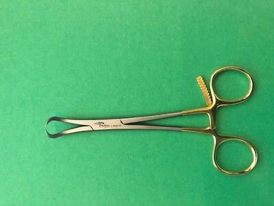 "2 Bone Reduction Forceps 5.5"" CVD Serrated W-Pointed Ortho Surgical Instruments."