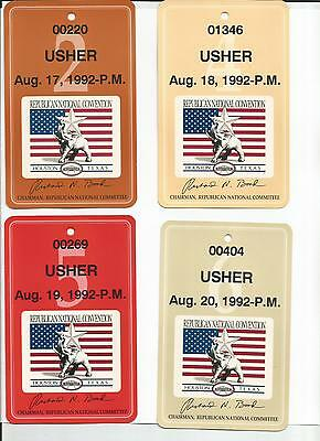 1992 Republican National Convention Usher and Astroarena Expocenter Passes
