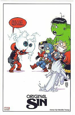 Original Sin SKOTTIE YOUNG LITHO Sheet MARVEL NOW PROMO