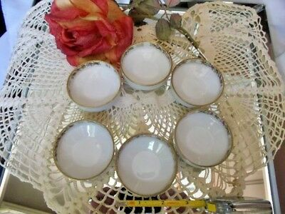 NIPPON SET of 6 SALT CELLARS * MARKED * ROSES *  Hand Painted 3 Footed