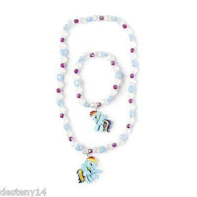 My Little Pony Hearts and Crystal Beads Necklace and Bracelet Set NWT