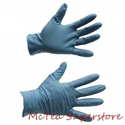 "Showa Best 8500PF Large 9.5"" 8 Mil Blue Nitrile Powder Free Disposable Gloves"