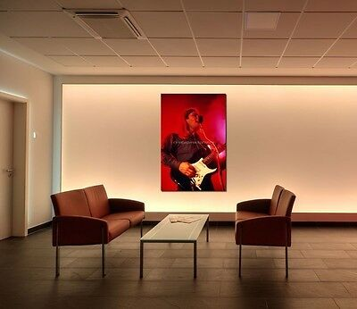 David Gilmour Pink Floyd 20X30 in Fine Art Gallery Canvas Print Framed Gilcee 40