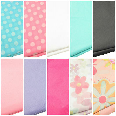 Polka Dot, Floral Or Plain Tissue Paper Acid Free Gift Wrap & Present Packaging