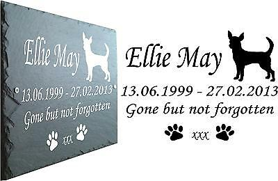 Chihuahua Memorial Slate Plaque - Personalised for loved one - Grave Marker • EUR 20,92