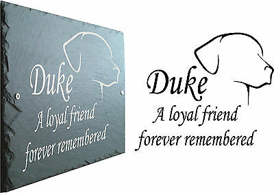 Slate memorial sign plaque - personalised for Dog - Cat - Bird / Parrot - Rabbit
