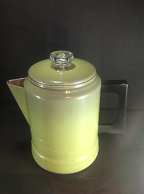 Vintage Comet Aluminum Coffee Pot Avocado Green