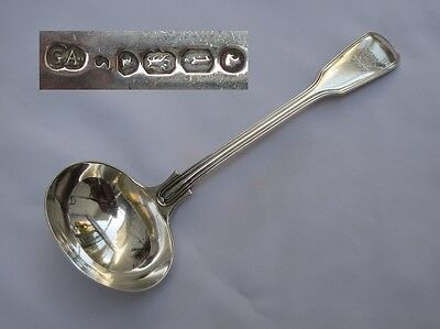 Stunning English Sterling Silver Victorian 1864 Sauce Ladle George Adams.