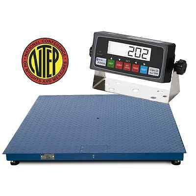 NTEP Certified 1000lb/0.2lb 2'x2' Prime Scales Floor Scale with NTEP Indicator
